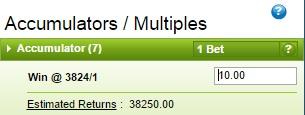 big odds accumulator